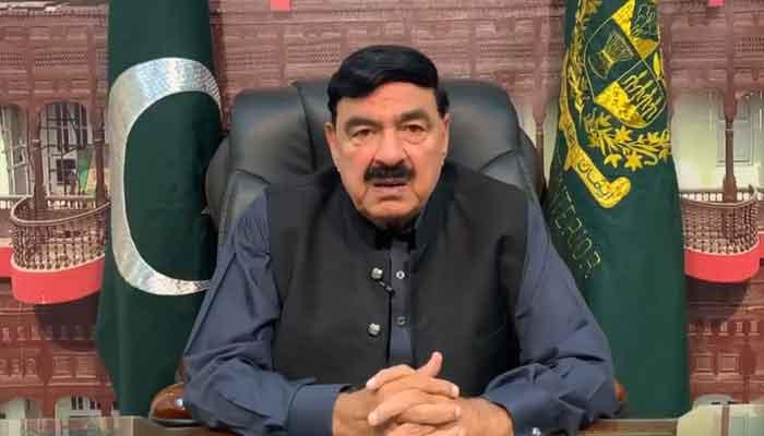 Interior Minister Sheikh Rasheed. File photo