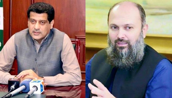 Provincial minister Zahoor Buledi (left) andChief Minister BalochistanJam Kamal Khan Alyani.— Twitter/File