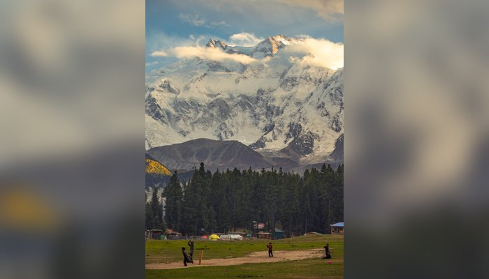 The picturesque cricket ground in Nanga Parbats lap. — Twitter/hsntalal_tiwana