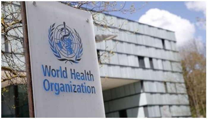 A logo is pictured outside a building of the World Health Organization during an executive board meeting on update on the coronavirus disease (COVID-19) outbreak, in Geneva, Switzerland. April 6, 2021. Photo — REUTERS