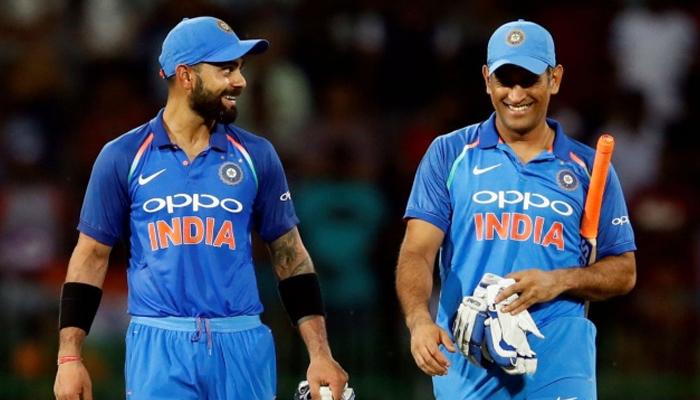 Indian captain Virat Kohli (left) andformer skipper Mahendra Singh Dhoni. — Reuters/File
