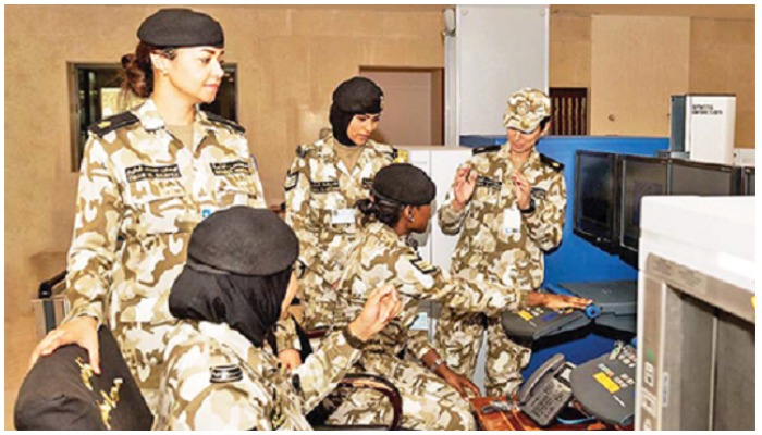 Kuwaits female security personnel in the National Assembly. Photo — Kuwait Times/file