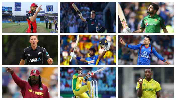 Combo shows the most high profile cricketers of the T20 World Cup.