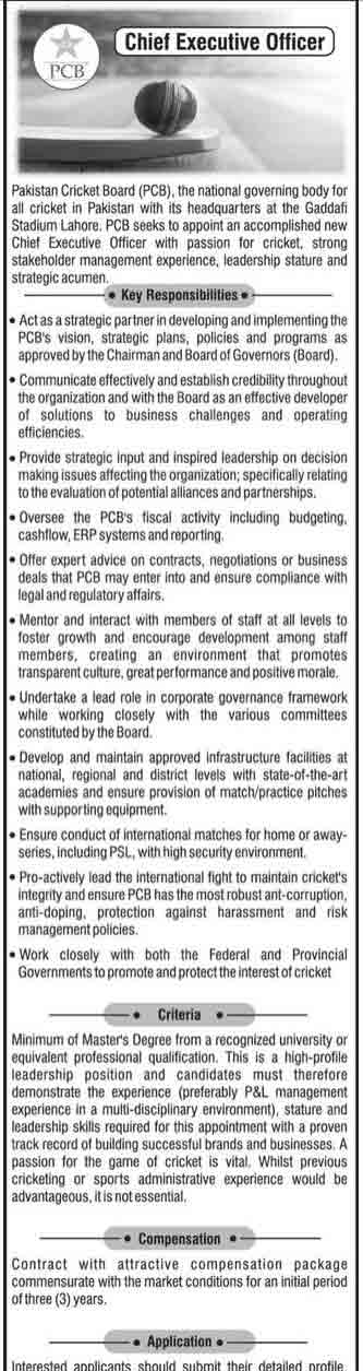 PCB goes on the hunt for new CEO to fill in Wasim Khans shoes