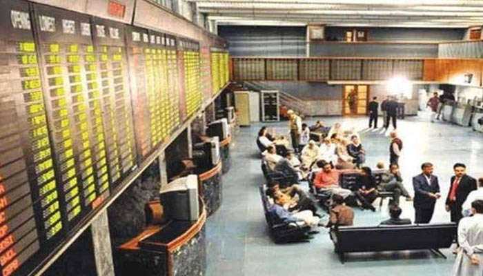Traders sitting in the main hall of the Pakistan Stock Exchange. — Reuters/File