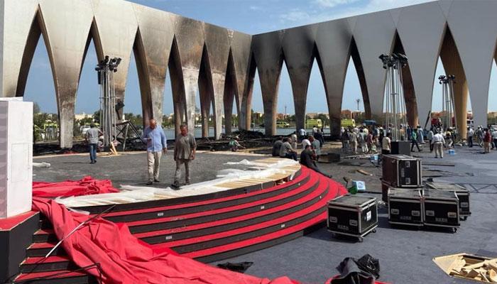 The blaze damaged a small part of the main pavilion of El Gouna Film Festival