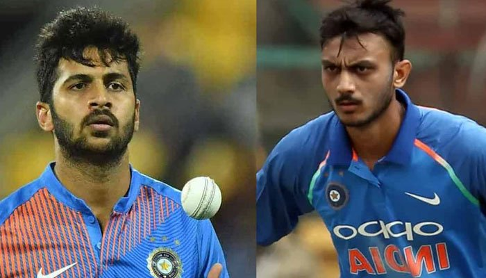 Indian cricketers Shardul Thakur (L) andAxar Patel (R). Photo: file