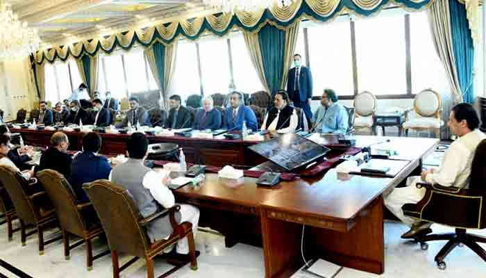 PM Imran Khan chairs a meeting of the National Coordination Committee on Housing, Construction and Development, in Islamabad.