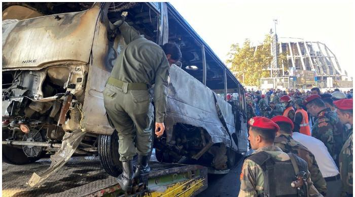 13 killed as explosion blows up army bus in central Damascus: Syrian state TV