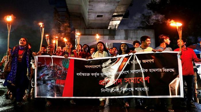 Bangladesh's ruling party rallies for Hindus after deadly clashes