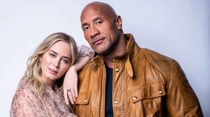 Dwayne Johnson admires Emily Blunt's take on the colossal framework of a human'