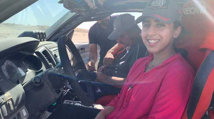 Down but not out: Despite crash, young woman racer finishes Gwadar rally