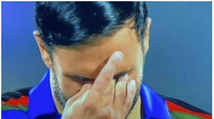 Overcome with emotion, Afghan skipper Nabi breaks down during Afghan national anthem